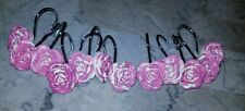 12 Shower Curtain Hooks Pink Flowers
