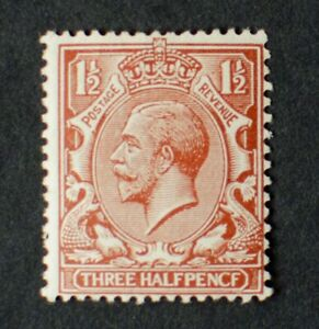 """VERY GOOD GV 1½d RED BROWN SG362a """"PENCF"""" ERROR MINT"""