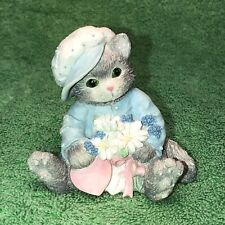 """Enesco Calico Kittens """"My Loves Blossoms For You� Cat Figurine 102547"""