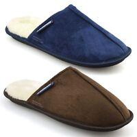 Mens Lambretta Warm Memory Foam Winter Flat Slippers Slip On Mules Shoes Size