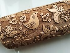 Engraved Rolling Pin Embossed Rolling Embossed Dough Roller Wooden Rolling Pin