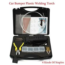 220V Hot Stapler Car Bumper Fender Fairing Welder Gun Staples Plastic Repair Kit