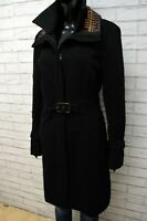 Max&Co. Donna 46 Cappotto Nero Giacca Lunga Trench in Lana Jacket Women's Black