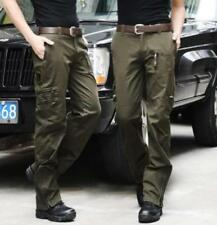 Mens Military Casual Camo Army Green Cotton Climbing Cargo Trousers Pants New