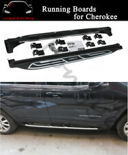 2PCS Running Board fits for Jeep Cherokee 2014-2020 Side Step Nerf Bar Protector