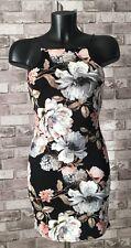 Womans/Ladies Floral Bodycon Sleeveless Dress Size 8 Boohoo Night