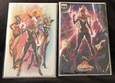 Captain Marvel #1 J. Scott Campbell Convention Variants Covers F&G SIGNED w/ COA