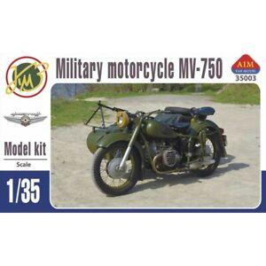 AIM FAN MODEL 35003 MILITARY MOTORCYCLE MV-750 SCALE MODEL KIT 1/35 NEW