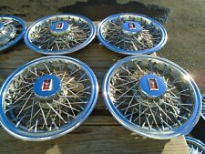 "1981 Oldsmobille Cutlass 14"" Wire Hubcap Set of 4 OEM Hollander # 4081"
