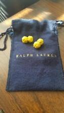 Ralph Lauren Polo Silk Knot Cuff Links Yellow NEW