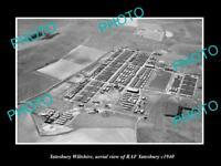 OLD LARGE HISTORIC PHOTO YATESBURY WILTSHIRE ENGLAND THE RAF YATESBURY c1950