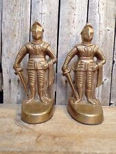 Vintage ~ Solid Brass ~ Knights in Shining Armor ~ Bookends