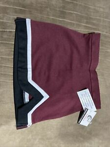 Chasse Adult Sz L Dark Green & White Cheerleading Skirt NEW NWT Cheer Uniform