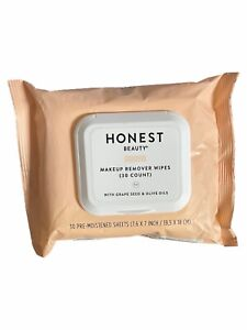 Honest Beauty Makeup Remover Wipes with Grape Seed & Olive Oils | Paraben Free,