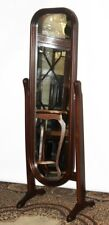 Vintage Mahogany Cheval Dressing Mirror - FREE Delivery [PL3922]
