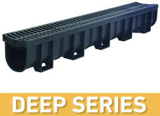 Us Trench Drain Channel Grate Bottom Outlet Black Grate Deep Landscape Outdoor