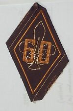 "DIAMOND JUBILEE ""60"" SCOUTS/GUIDES CLOTH BADGE MINT VINTAGE 80mm x 55mm"