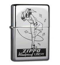 More details for zippo genuine refillable cigarette lighter windproof lady #18 new box rare