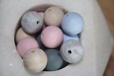 Wholesale Silicone Beads x50 colour Mix BPA Free round Blue Grey diy