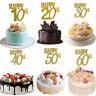 Happy Birthday Party Cake Topper Glitter 30th Anniversary Wedding Cake Decor HS