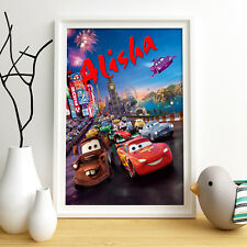 Lightning McQueen Personalised Poster A4 Print Wall Art Disney Cars