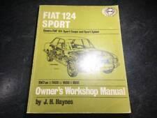 1967-1974 Fiat 124 Sport Haynes Shop Repair Manual Fiat 124 Spider Convertible