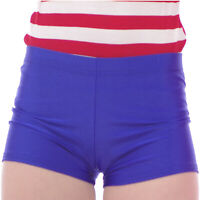 NEON ROYAL BLUE SHORTS HOT PANTS  PARTY CYCLE  DANCE SPORTS size 10-12