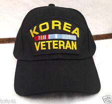 KOREA VETERAN (BLACK) Military Veteran Hat 348 VEB