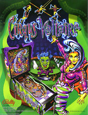 Circqus Voltiare Pinball FLYER Original NOS 1997 Bally Circus Artwork Fantasy