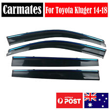 Window Weather Shield Visor For Toyota Kluger 14-18 4 Doors double sided tape AU