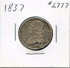 1837 25C Capped Bust Silver Quarter. Circulated. Lot #2554
