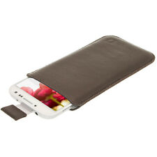 Braun Leder Beutel für Samsung Galaxy S4 IV I9500 Android Smartphone Tasche