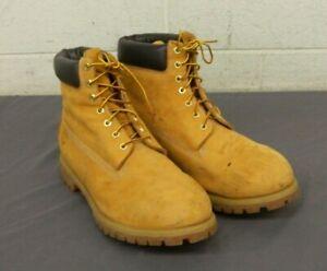 "Timberland 10061 Original Yellow Leather 6"" Waterproof Work Boots US Men's 15"