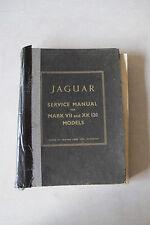 Original Jaguar Supplement to Mark VII and XK120 Service Manual for XK140 Model