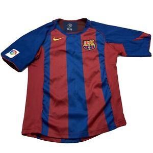 Rare FC Barcelona Jersey Home football shirt 2005 - 2006 Nike Size S