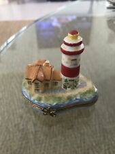 Limoges Box - Lighthouse & Island - Starfish & Birds - Removable Buoy