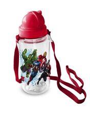 Disney Marvel Avengers Trinkflasche Transparent Flasche Umhängeflasche 450ml NEU