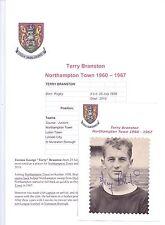 TERRY BRANSTON NORTHAMPTON TOWN 1962-1968 RARE ORIGINAL HAND SIGNED PICTURE