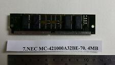 NEC MC-421000A32BE-70. 4MB 72pin 70ns simm.