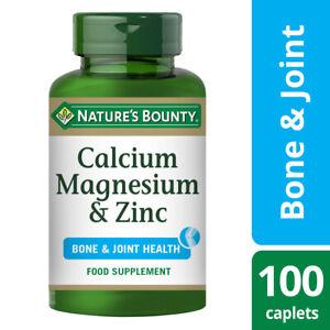 Nature's Bounty Calcium, Magnesium and Zinc - 100 Coated Caplets