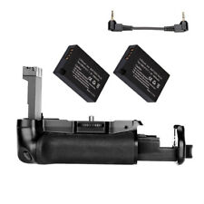 Battery Grip For Canon EOS 800D / 77D / Rebel T7i / Kiss X9i +2x LP-E17 Battery