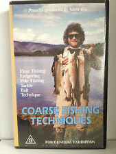 COARSE FISHING TECHNIQUES ~ RARE AS NEW VHS VIDEO ~ FREE POST