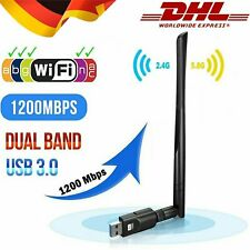 1200 Mbit/s 2,4&5 GHz Dual Band WIFI WLAN Stick Adapter USB IEEE 802.11ac/b/g/n