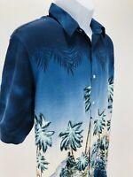 Croft & Barrow Shirt Men's Short Sleeve Shirt XL Hawaiian Palm Trees
