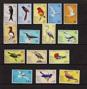 British Indian Ocean Territory - 1975 Birds set, MNH, cat. $ 35.25