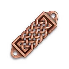 TierraCast Celtic Centerpiece Link, Antiqued Copper-Plated Pewter (T686)