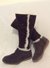 O'neill Brown Knee High Suede Boots Size 38