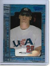 2000 Upper Deck Ultimate Victory Ben Sheets USA #2220/2500 Rookie #114