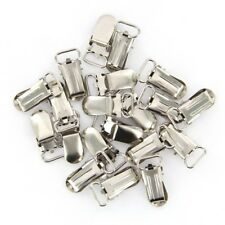 20cs Pacifier Suspender Clips Metal Pacifier Clips for Making Holder 28x10mm