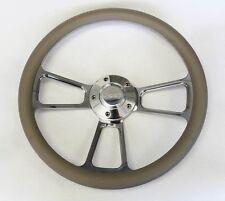"1987 - 1995 Jeep Wrangler YJ Cherokee Grey Billet Steering Wheel 14"" Jeep Cap"